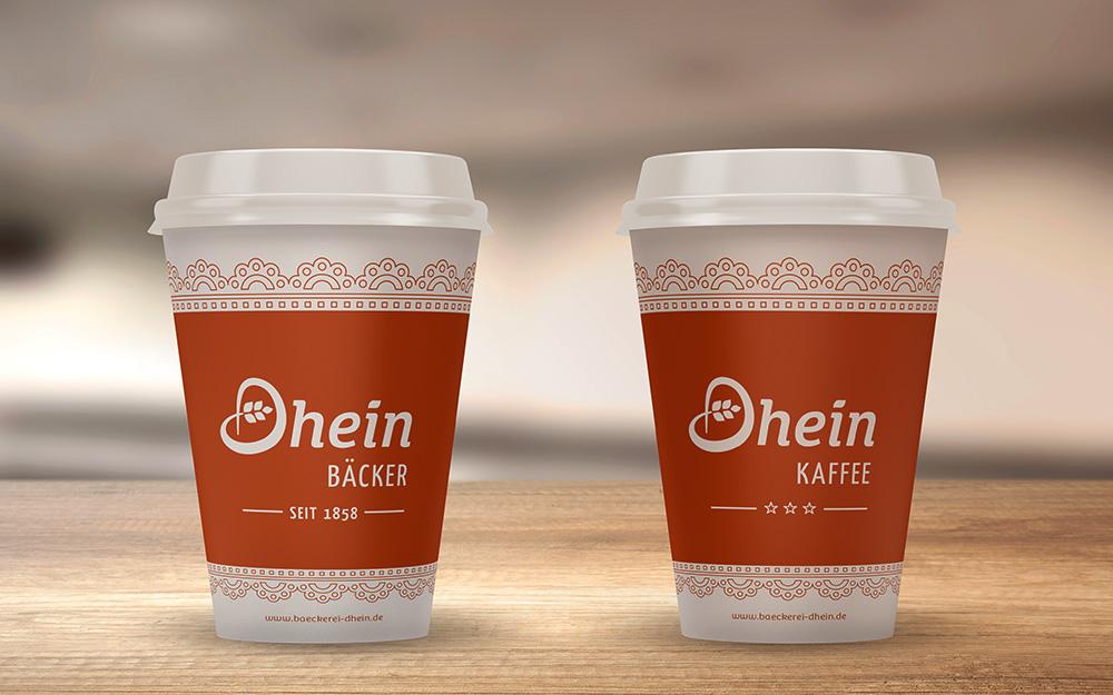 Zwei Kaffeebecher Dhein-to-go