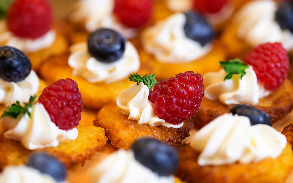 Kartoffelpuffer Canapés - Feiern bei Dhein